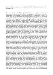Zusammenfassung erster Resultate der Spiritualitätsstudie (Februar ...