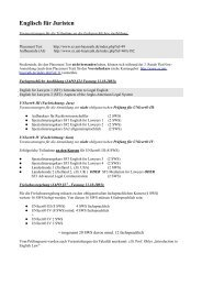 Englisch für Juristen - Sprachenzentrum der Universität Bayreuth