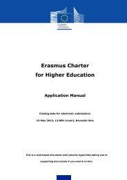 Erasmus Charter for Higher Education Application ... - EURIreland.ie