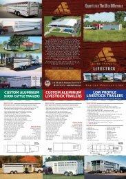 custom aluminum livestock trailers low profile ... - Elite Trailers