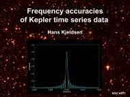 Frequency accuracies of Kepler time series: Hans Kjeldsen
