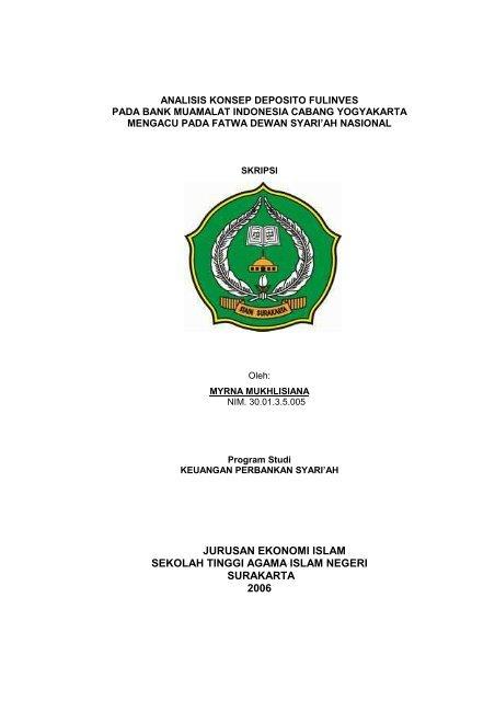 Jurusan Ekonomi Islam Sekolah Tinggi Agama Idb4