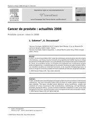 Cancer de prostate : actualités 2008 - Urofrance