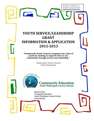 12-13 Grant Information - Community Education