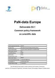Common policy framework on scientific data - PANDATA – Photon ...