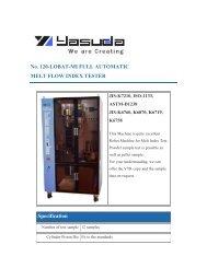 No. 120-LOBAT-MI FULL AUTOMATIC MELT FLOW INDEX TESTER ...