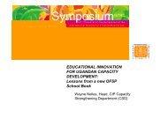 Nelles, W.; Educational innovation for Ugandan capacity development