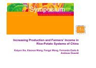 Xie, K.; Increasing production and farmers