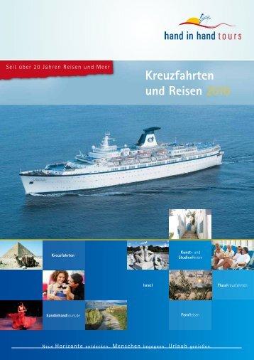 Kreuzfahrten und Reisen 2010 - hand in hand tours