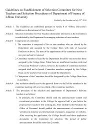Guidelines on Establishment of Selection Committee for New ...