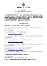 03 Bando e Disciplinare di gara Firmato - Comune di Galatina