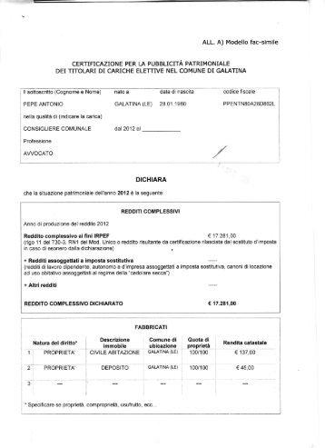 Raccolta dati per la dichiarazione dei redditi 730 2013 for 730 dichiarazione