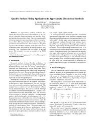 Quadric Surface Fitting Applications to Approximate Dimensional ...