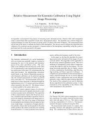 Relative Measurement for Kinematic Calibration Using Digital Image ...
