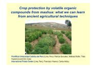 Gonzales, P.; Crop protection by volatile organic compounds from ...