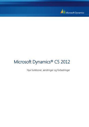 Microsoft Dynamics® C5 2012