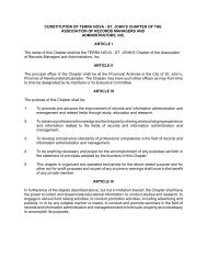 Terra Nova Chapter Constitution and By-laws - ARMA Terra Nova ...