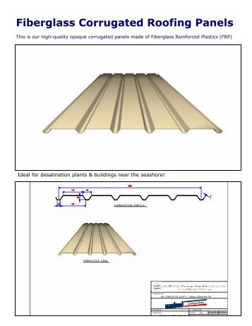 Fiberglass Corrugated Roofing Panels - Watani