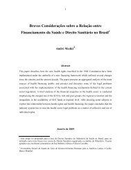 O Direito Sanitario e o Financiamento da Saúde no Brasil - Idisa