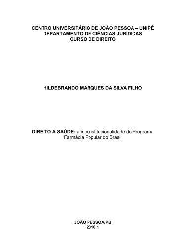 Direito à Saúde: a inconstitucionalidade do Programa ... - Idisa