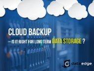 Cloud Backup in Kansas City – Long Term Data Storage