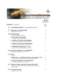 B SORTLISTAN NATIONAL LIST - Jordbruksverket