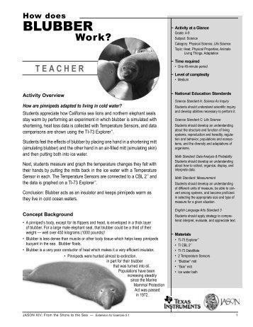 BLUBBER - Education World