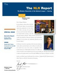 The NLN Report - National League for Nursing