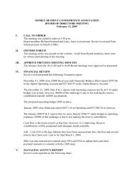 OR 2-13-09 Board meeting minutes - HOA Management