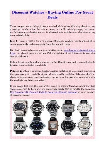 Discount Watches ­ Buying Online For Great Deals