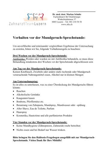 4 free Magazines from DR.SCHULTE.CH