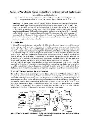 Analysis of Wavelength-Routed Optical Burst-Switched Network ...