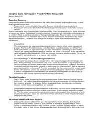 Using Six Sigma Techniques in Project Portfolio Management ...