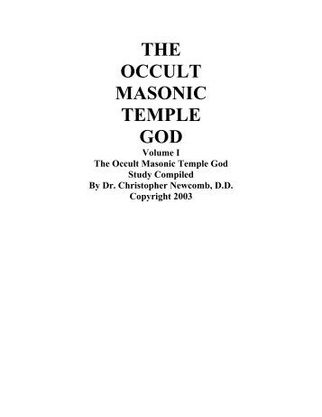 The Occult Masonic Temple God - Intro to Crow Healing Network