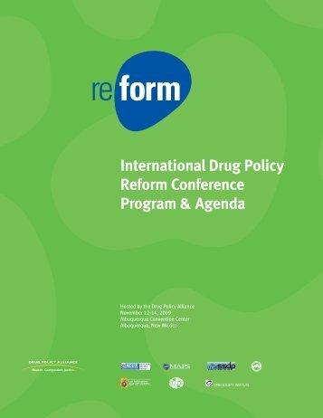 2009 International Drug Policy Reform Conference Program & Agenda