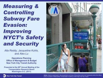 Measuring & Controlling Subway Fare Evasion ... - Lexciestuff.net