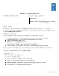 REQUEST FOR QUOTATION (RFQ) - UNDP Russia