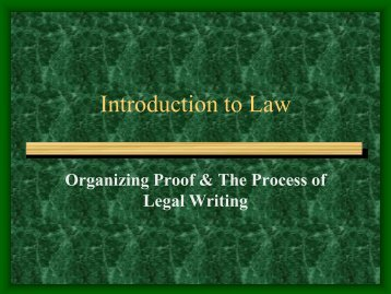 Introduction to Law - UMKC School of Law