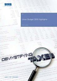 Union Budget 2010 Highlights - KPMG