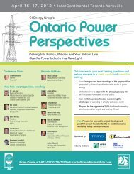 Ontario Power Perspectives - Organization of CANDU Industries