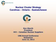 Nuclear Cluster The - Organization of CANDU Industries