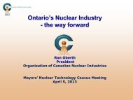 Ontario's Nuclear Industry - Organization of CANDU Industries