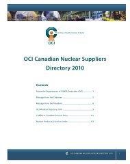 OCI Member Directory 2010 - Organization of CANDU Industries