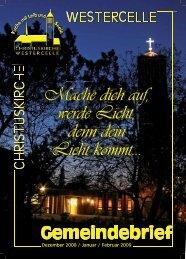 Ausgabe 2008/09 - Kirchengemeinde Westercelle