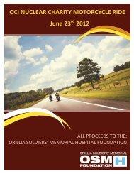 charity ride brochure.pdf - Organization of CANDU Industries