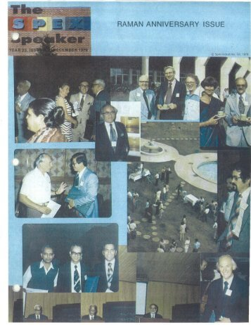 Raman Anniversary Issue - Golden Jubilee Of The ... - SPEX Speaker