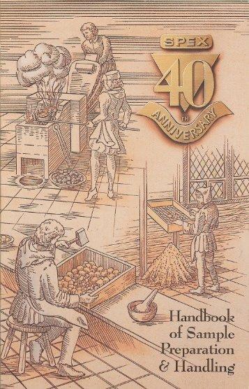 1994 Handbook of Sample Prep & Handling - 4th ... - SPEX Speaker