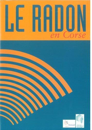 Plaquette d'information sur le radon en Corse