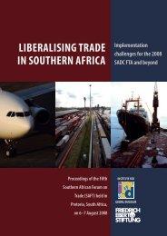 liberalising trade in southern africa - Friedrich Ebert Stiftung - Namibia