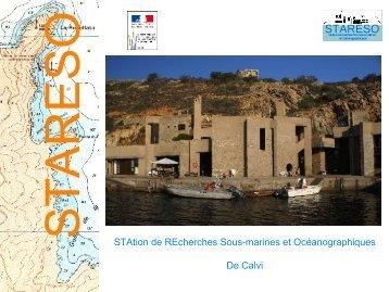 Présentation de la STARESO - DREAL Corse